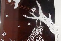 Ablakdísz-karácsony