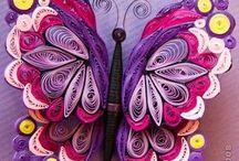 Квиллинг - бабочки.