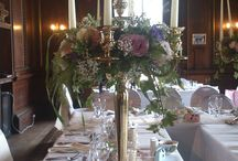 Centrepieces / Centrepieces at Wedding breakfasts and other locations at East Dene Wedding Venue