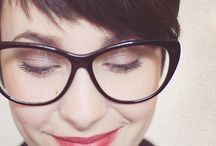 Glasses and Pixie cut!