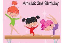Gymnastics Party Invitations / #Gymnastics #Party #Invitations