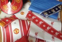 On me head son! / This little collection of our football club wallcoverings for your little professional!