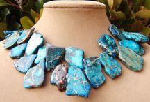Stone Bib Necklaces