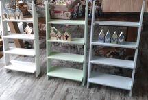 kleine meubels / pallettafel/wandtrap