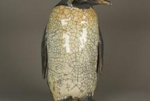 Pingouins ceramique