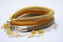My handmade / my own projects, handmade, jewellery, beading, bead crochet