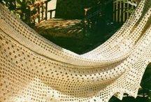 Rede de varanda em crochê