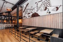 &Friends. / interiors concepts: lightning, seating, colour, wall treatments, signage, bar design, materials and branding.