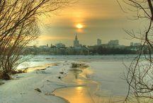 zima nad Wisłą