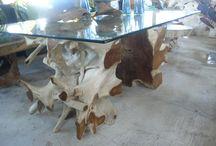 mesa escritorio de raíz / mesa escritorio de raíz de teca Diseño, producción y fabricación exclusiva y ecológica por www.comprarenbali.com