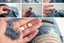 how to cut jeans holes diy