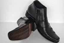 Sepatu Kulit Asli / Sepatu boots pria kulit asli