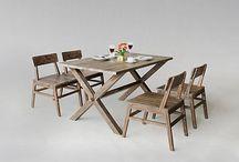 Wooden Dining Set - Teak Wood Dining Set - Reclaimed Teak Dining Set