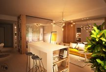 Studio apartments design / #modern living #studio apartment #small place