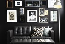 stue svart sofa