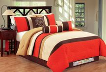 Orange Comforters and Bedding On a Budget
