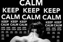 Keep Calm / A poster, made in 1939 by the British Ministry of Information to encouage the public to pull through the difficult times in World War II. Although millions of copies were printed, the poster was never really used, and the original designer is unknown.