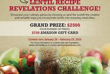 2015 Lentil Recipe Revelations Challenge / All official entries into the 2015 Lentil Recipe Revelations Challenge will be pinned to this board - contest runs January 19, 2015 - February 23, 2015.