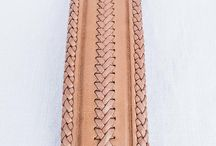 Braided leather