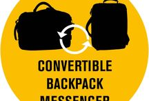 Cool convertibles / Backpacks and messengers in one! Do more with one bag!
