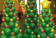 Christmas Balloon Decor / Christmas Tree in Balloons