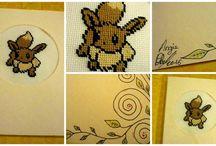 Créations Pokemon Broderie Point de Croix