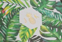 Tropical Luxe wedding stationary