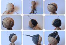 crochet doll hair