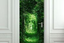 murais para portas