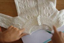 Técnicas de tricô e crochê