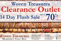 70 % Sale on Rugs in Melbourne / Woven Treasures offers flat 70 percent sale on Rugs in Melbourne. Call us for more Information   +61 3 9425 9358
