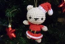 Amigurumis de navidad / No son mis diseños,yo solo he sacado las imágenes de internet y de pinterest.