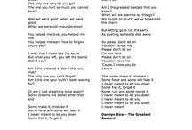 Lyrics and Melody