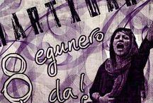 IRUDI FEMINISTAK / Feminismoz jantzitako argazkiak, kartelak, bideoak, hormairudiak, postalak, graffitiak, memeak ...