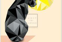 Digital Diamonds / Hübsche Kunstbilder im modernen Digital Style.