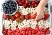 Summer Fun DIY / Summer themed crafts and treats including Red, White and Blue 4th of July ideas.