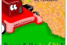 """Louie & the Leaf Pile / The second book in the Louie the Lawnmower series, Louie & the Leaf Pile shares the importance of working together as a team and the value of saying, """"I'm sorry!"""""""