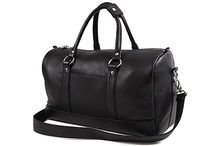 3.7.6. Weekender Bag WHM03 (314335) / Black natural leather, black fabric inside Size (mm) 550 x 240 x 270 www.376style.com