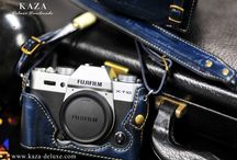 Fujifilm XT10 vintage classis  カメラケース leather case 相機皮套 designed by KAZA / This is a showcase of the Fujifilm X-T10 vintage leather case / half case , designed by KAZA カメラケースleather case 相機皮套 designed by KAZA