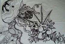 kresba / acryl pen