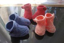 Baby - Crochet,knitting and all others / botičky, deky, kabátky, kamaše