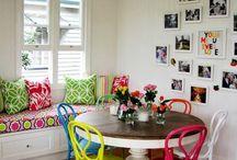renkli yemek odaları