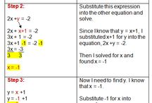 Systems of Equations / Great step by step examples of how to solve systems of equations using various methods.
