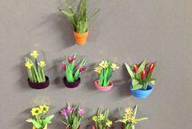 Narayan Godbole / Paper miniature flower pots