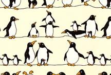 Animales graciosos pingüinos