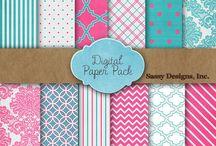 Digital freebie patterned paper