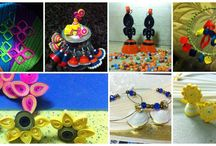 light weight accessories  / completely handmade and paper quilled!!