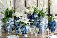 Blue willow inspiration.. love / Get the look!