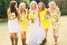 Un mariage en jaune soleil / A yellow wedding theme