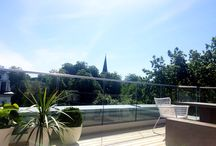 Min takterrasse / Terrasse Veranda Planter Hagemøbler My terrace